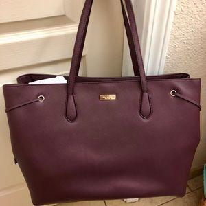 Kate Spade large handbag in merlot color.